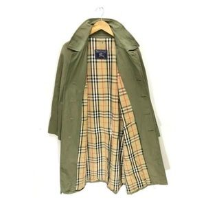 Burberry England Vintage Olive Green Trench Coat M